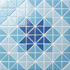 Mattonelle di mosaico della porcellana del raggruppamento della decorazione della parete della stanza da bagno nel reticolo del triangolo