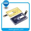 Entraînement mince de crayon lecteur de carte, flash USB par la carte de crédit fait sur commande, lecteur flash USB de 4GB 8GB 32GB