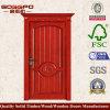 Cnc-hölzerne Tür-festes Holz-Mahagonieintrag-Tür (XS2-014)