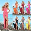 Caftan Backless de plage de courroie de spaghetti des femmes (A953)