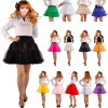 Jupon de circuit de jupe de tutu de princesse Layered Puff Skirt Mini des femmes