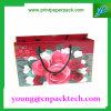 Saco do papel de embalagem da impressão do saco do presente do saco de mão da flor