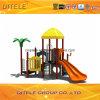 114mm galvanisiertes Pfosten-buntes luxuriöses doppeltes rechtsdrehendes Plättchen und lockige Bergsteiger-Kind-im Freienspielplatz-Gerät