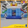 Pinguin-aufblasbarer Überbrückungsdraht-Vergnügungspark-Spaß Sledding aufblasbarer kombinierter Prahler mit doppeltem Miniplättchen (AQ01441)