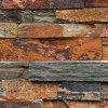 Panneau de revêtement cultivé par quartzite normale rouillée de mur en pierre