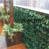 Valla Artificial plástico Hedge sintético plástico hojas de naranja Balcón Decoración