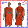 Vêtements de sport 100% réversibles d'uniformes de basket-ball d'impression faite sur commande de sublimation de polyester