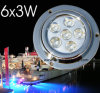 LED 수중 배 빛 (6X3W, 10-30V, 파란)