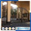 Diseños calientes modificados para requisitos particulares de la puerta del hierro labrado de las ventas