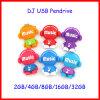 Movimentação do flash do USB do DJ do disco do USB da pessoa da música dos desenhos animados