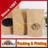 Natürliche Kraftpapier-Folien-Fastfood- Reißverschluss-Tasche (220103)