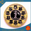 2015 aduana Gold Plated Metal Coin para Police americano
