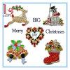 Pin a cristallo del seno del vario della lega della decorazione di natale dello Snowman/del Babbo Natale del Brooch regalo di natale