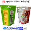 Il marchio su ordinazione si leva in piedi in su il sacchetto di imballaggio di plastica per alimento per animali domestici