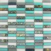 Las flores cristalinas verdes del mosaico Ln006 imprimieron el mosaico de Matt de los azulejos de mosaico