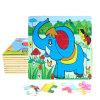 Do enigma quente direto do frame de madeira dos desenhos animados da fábrica elefante educacional dos brinquedos 3D DIY Chindlren