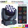 faisceau principal mobile de 10W*12PCS LED