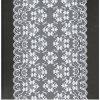 Шнурок ткани белого цвета краски эластичный швейцарский