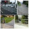 2015 barrières piétonnières galvanisées de contrôle de foule de tube en acier