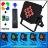 9PCS teledirigido 10 Watts RGBWA 5in1 LED Batería-accionado Wireless Uplights