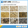 Pierre artificielle de quartz des prix bon marché de quartz brames multicolores de pierre de grandes et de couleur grise