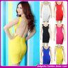 A celebridade feita malha Backless do vestido da atadura de Bodycon veste 2014 amarelos/brancos/vermelhos/preto/cor-de-rosa/baratos por atacado azul/roxo