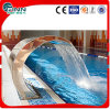 Cortina de agua de la piscina del acero inoxidable con la bomba de agua