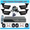 o jogo de 4CH D1 DVR com 480tvl Waterproof câmeras do IR, todas cabografa incluída, rede D1 DVR (FS04-101KT)