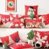 Coussins décoratifs à la maison de sofa pour Noël