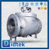 Vávula de bola superior manual sin reducción en la sección de paso segura de la entrada del acero de carbón del fuego de Didtek