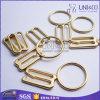 Кольцо регулятора бюстгальтера цвета золота бессвинцовым сплавленное цинком