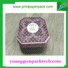 Caja de embalaje impresa aduana de la cartulina del rectángulo de la flor