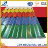 Hoja de acero acanalada del material para techos del color de la buena calidad