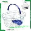 Cesta de compras cosmética del alambre de la dimensión de una variable redonda