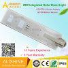 20W todo en una luz de calle solar al aire libre ahorro de energía del jardín del sensor de movimiento del LED