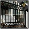 Cerca de aluminio revestida del jardín del polvo negro del color para la seguridad