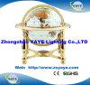 Beste Yaye 18 verkoopt de Bollen van de Bol/van de Halfedelsteen van de Wereld van 330mm/220mm/150mm met Gouden Tribune