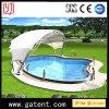 Tienda a medias circular extensible de la tienda de la cortina de la cara de la tienda de la piscina de Swmming de la dimensión de una variable del arco de la estructura de acero