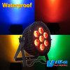 防水IP65 7*15W RGBWA 5in1 LED Outdoor Flat PAR Staeg Lighting