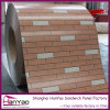 Spessore 0.2-1mm SGCC Brick Grained Colored Steel Sheet