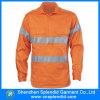 Camicia arancione riflettente del lavoro di forza all'ingrosso degli uomini ciao