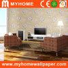 Papier peint de vinyle de PVC pour la salle de séjour de fond de TV