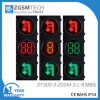 Het rode Geelgroene Licht van het Verkeerslicht van de Draai van U met Tijdopnemer 2 Digitale Counterdown