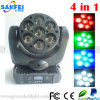 Stufe 7PCS*10W 4in1 LED Mini Moving Head Beam Light