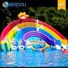 大人のための安い耐久の巨大で膨脹可能なプールの虹水スライド