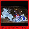 2015シカのキャリッジおよびサンタクロースのための普及した休日ライトクリスマスのモチーフライト