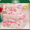 Handle를 가진 분홍색 Daily Use Household Storage Boxes