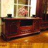 Kundenspezifische Wohnzimmer-/Schlafzimmer-rote Eiche stellte Fernsehapparat-Schrank her (XS9-059)