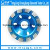 Única roda de moedura do diamante da resina da fileira
