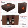 Rectángulo de empaquetado del vino de cuero negro y rojo (5428 series)